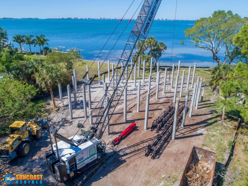 Construction Drone Pictures Videos Sarasota FL